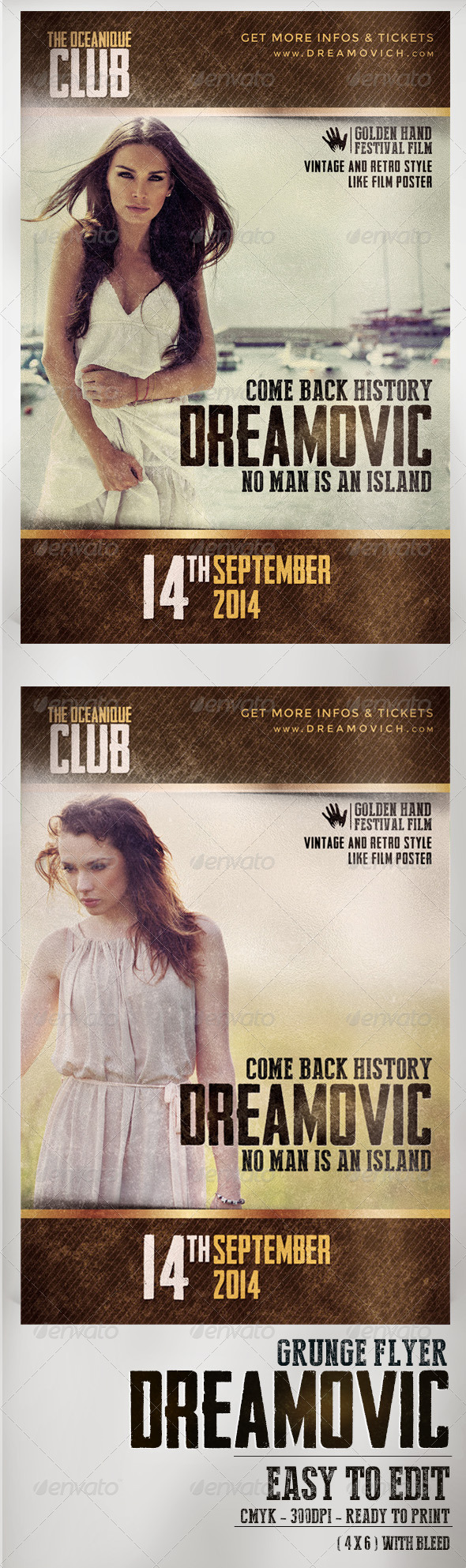 GraphicRiver Vintage Dreamovic Flyer Template 8252041