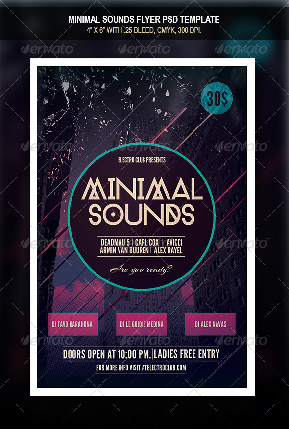 GraphicRiver Minimal Sounds Flyer 8252043