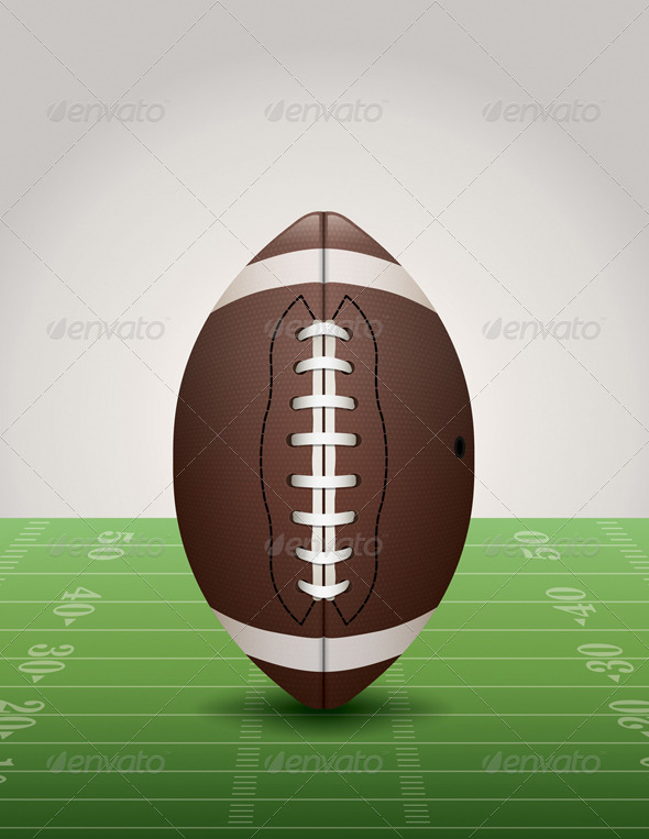 GraphicRiver American Football on Grass Field 8252158