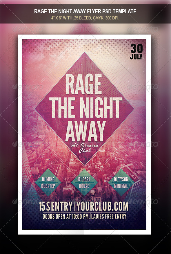 GraphicRiver Rage The Night Away Flyer 8252216