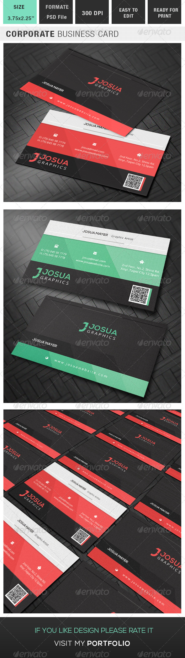 GraphicRiver Corporate Business Card 8245947