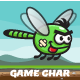 Dragonfly Game Character Sprite Sheets - GraphicRiver Item for Sale