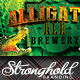 Alligator Ale Brewery Flyer Template - GraphicRiver Item for Sale
