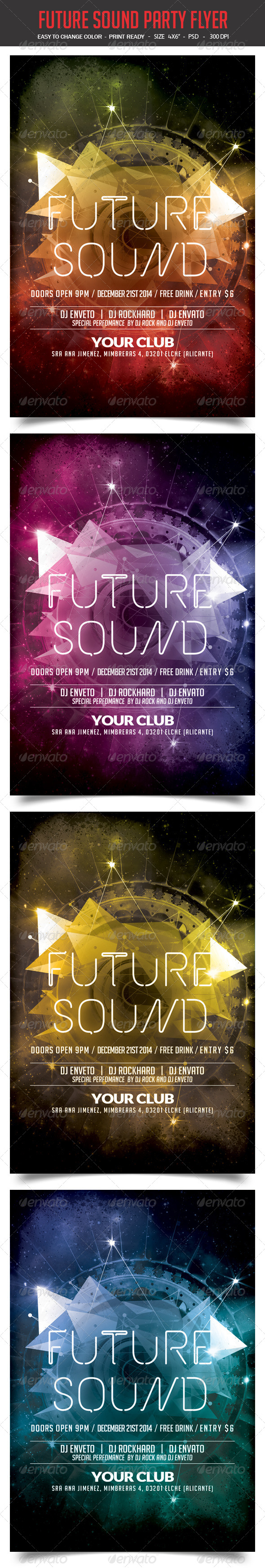 GraphicRiver Future Sound Party Flyer 8252561
