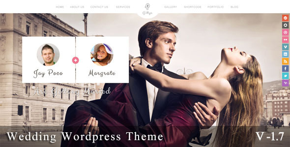 Gittys - Responsive Wedding Wordpress Theme - Wedding WordPress