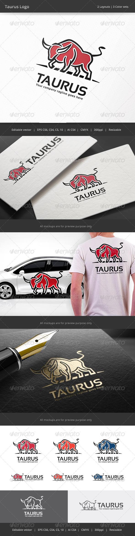 GraphicRiver Taurus Bull Logo 8252657