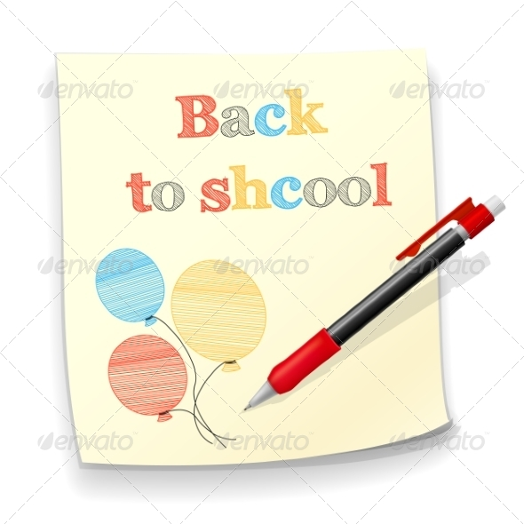 GraphicRiver Back to School Background 8252661