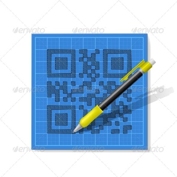 GraphicRiver Sketch QR-Code 8252666