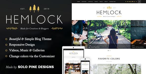 Hemlock - A Responsive WordPress Blog Theme - Personal Blog / Magazine