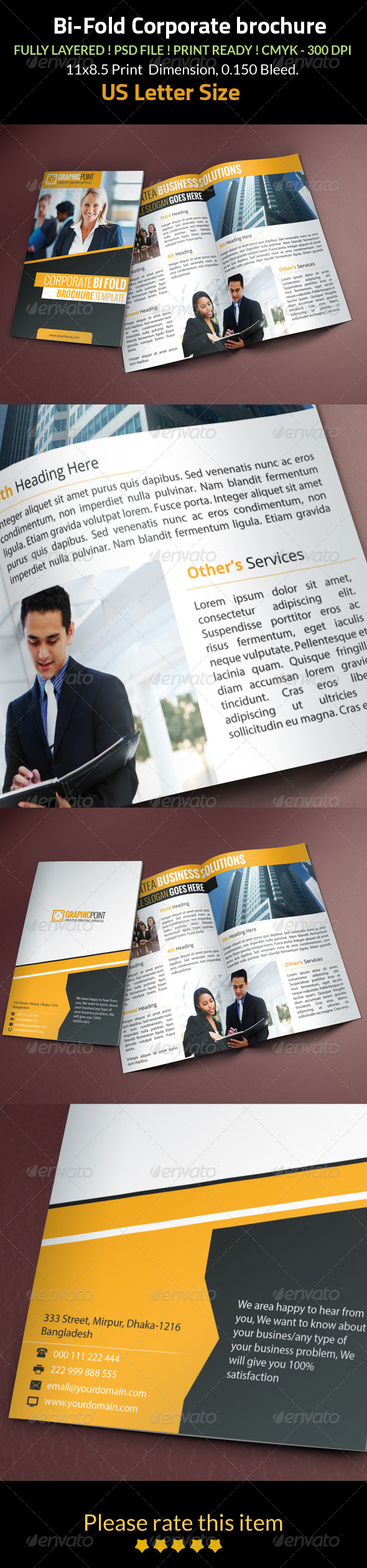 GraphicRiver Bi Fold Corporate Brochure 8253353