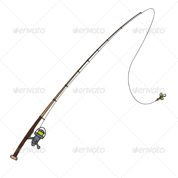 GraphicRiver Fishing Rod with Fly Bait 8253518