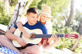 Joyful couple and guitar - PhotoDune Item for Sale