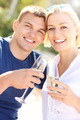 Romantic couple with champagne - PhotoDune Item for Sale