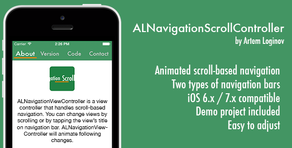 CodeCanyon ALNavigationScroll Controller 8207552