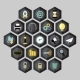 Hexagon Business Icons - GraphicRiver Item for Sale