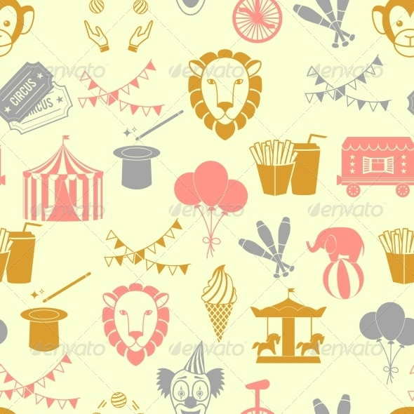 GraphicRiver Circus Seamless Pattern 8253888
