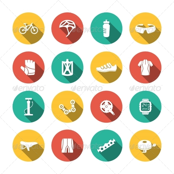 GraphicRiver Set of Biking Icons 8253892