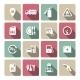 Set of Auto Gasoline Service Icon - GraphicRiver Item for Sale