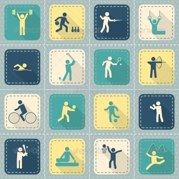 GraphicRiver Sport Icons Set 8254062