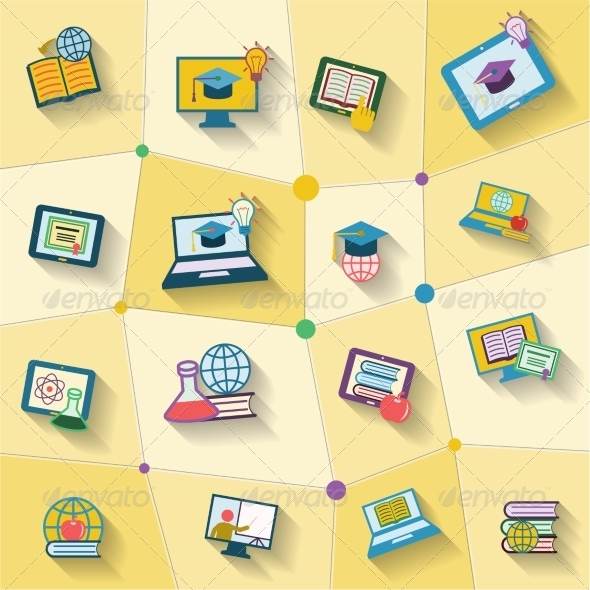 GraphicRiver Online Education Icon 8254085