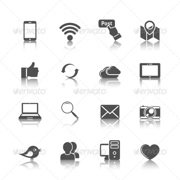 GraphicRiver Social Networking Icons 8254096