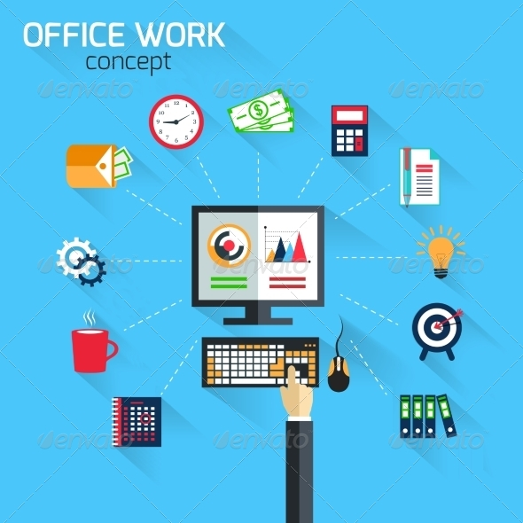 GraphicRiver Office Work Concept 8254124