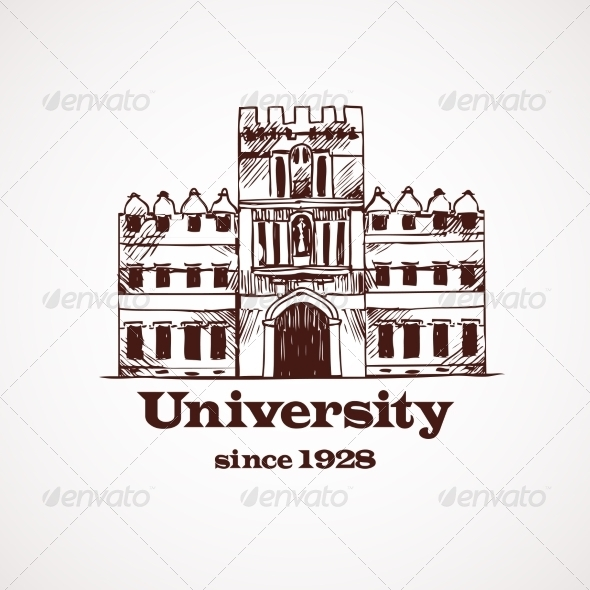 GraphicRiver University Sketch Building 8254182