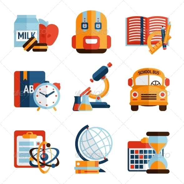 GraphicRiver Education Icons Set 8254231