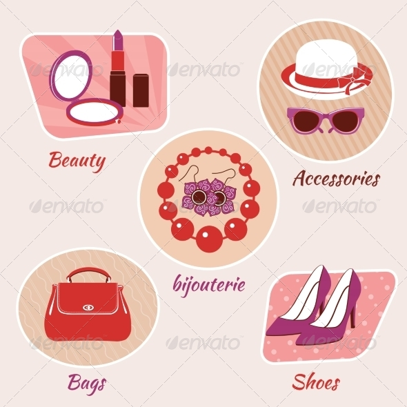 GraphicRiver Woman Beauty Emblems 8254242