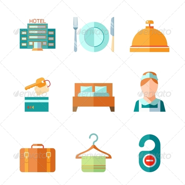 GraphicRiver Set of Hotel Icons 8254275