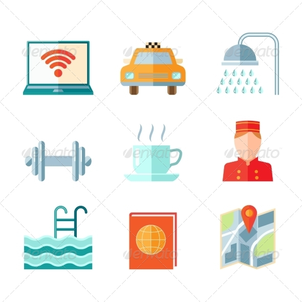 GraphicRiver Set of Hotel Icons 8254277