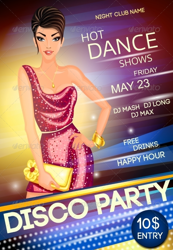 GraphicRiver Disco Party Poster 8254330