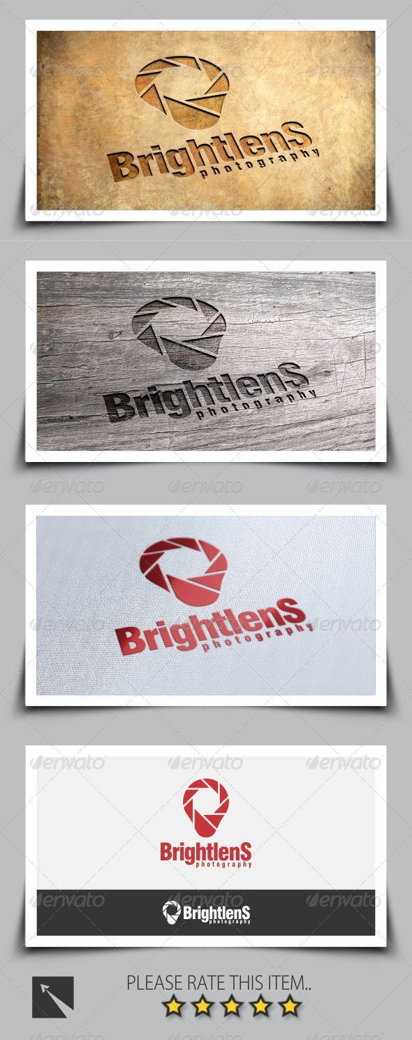 GraphicRiver Bright Lens Photography Logo Template 8254353