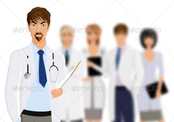 GraphicRiver Doctor with Medical Staff 8254355