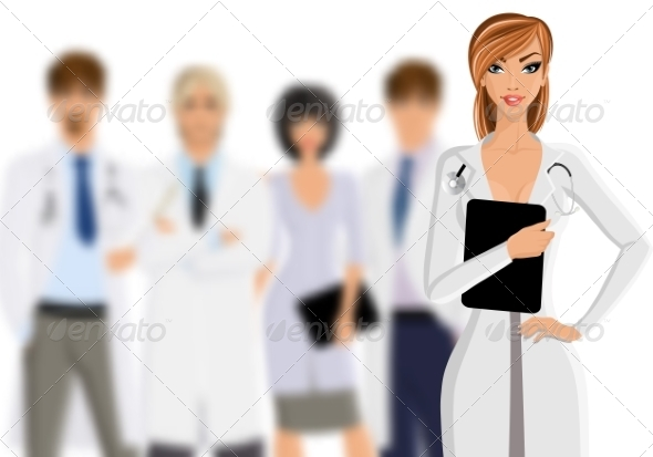GraphicRiver Doctor with Medical Staff 8254360