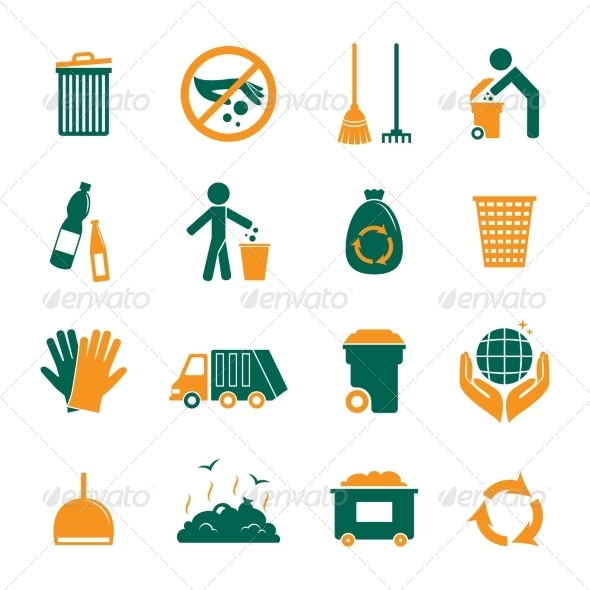 GraphicRiver Garbage Icons Set 8254367