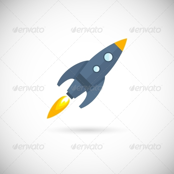 GraphicRiver Aircraft Icons Space Rocket 8254370