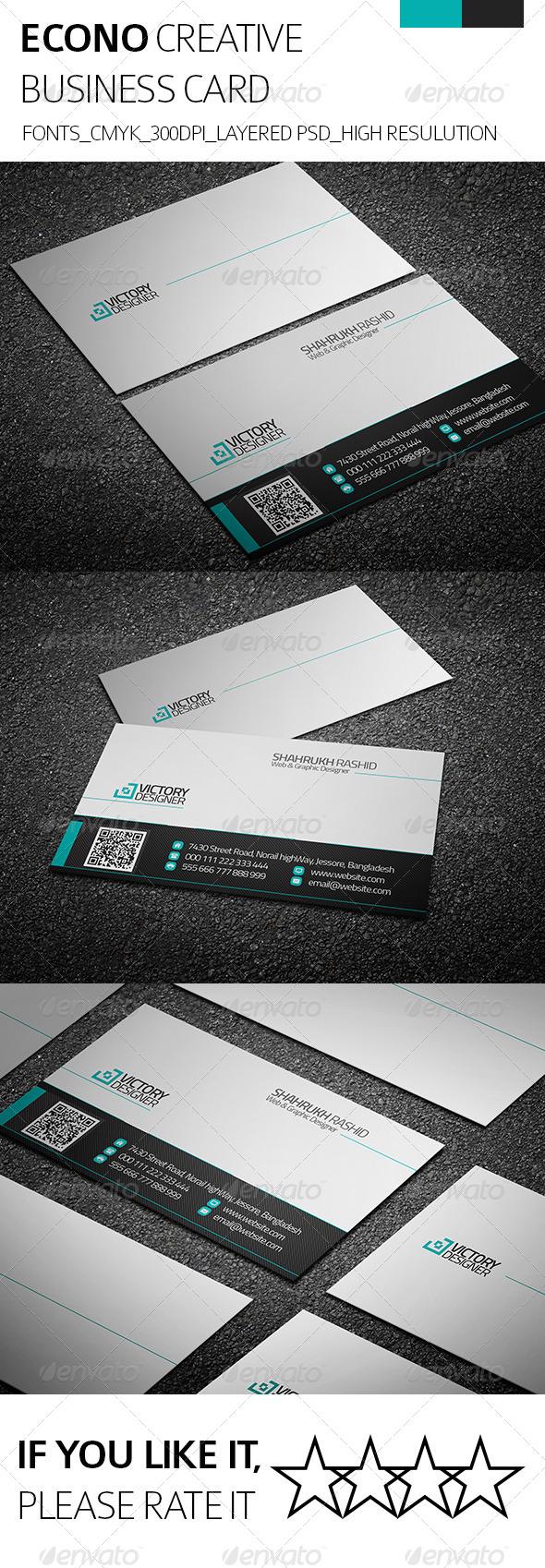GraphicRiver Econo & Creative Business Card 8243176