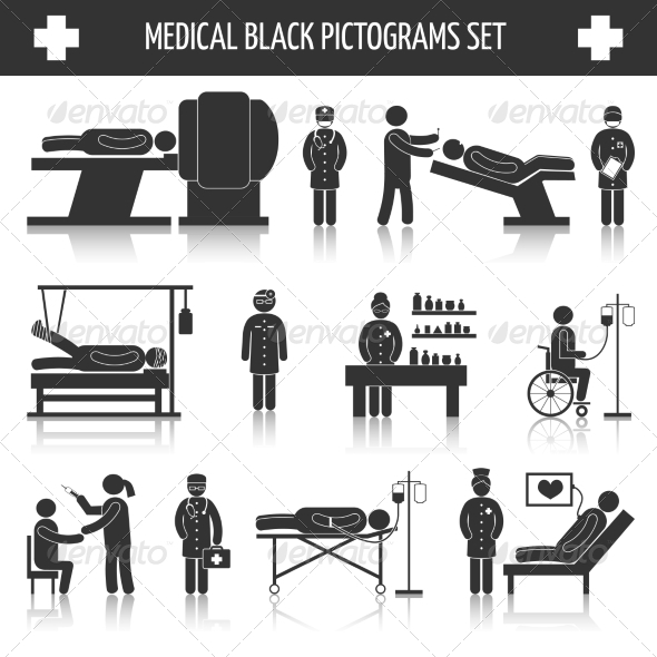 GraphicRiver Medical Pictograms Set 8254398