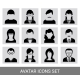 Black Avatar Icon Set - GraphicRiver Item for Sale