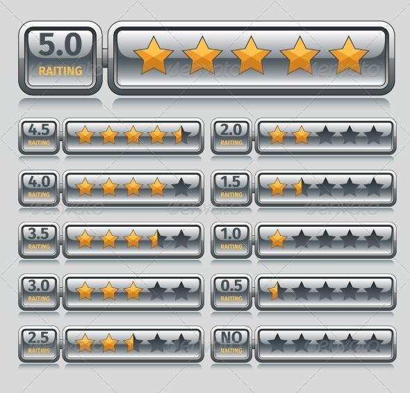 GraphicRiver Rating Stars Set 8254428
