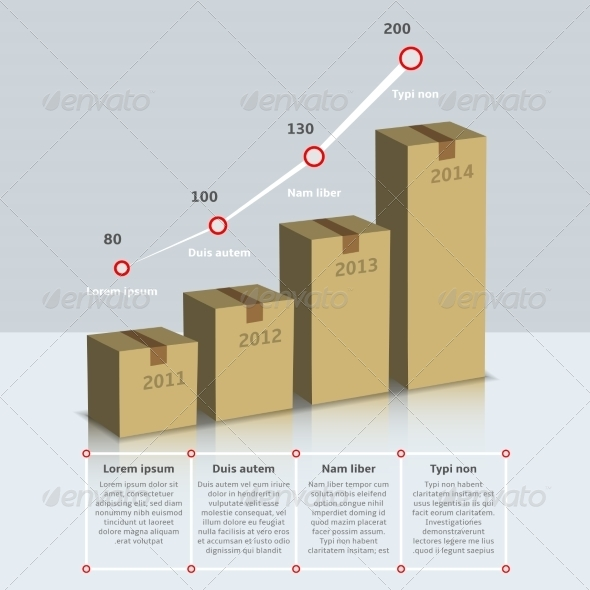 GraphicRiver Carton box growth infographic 8254432