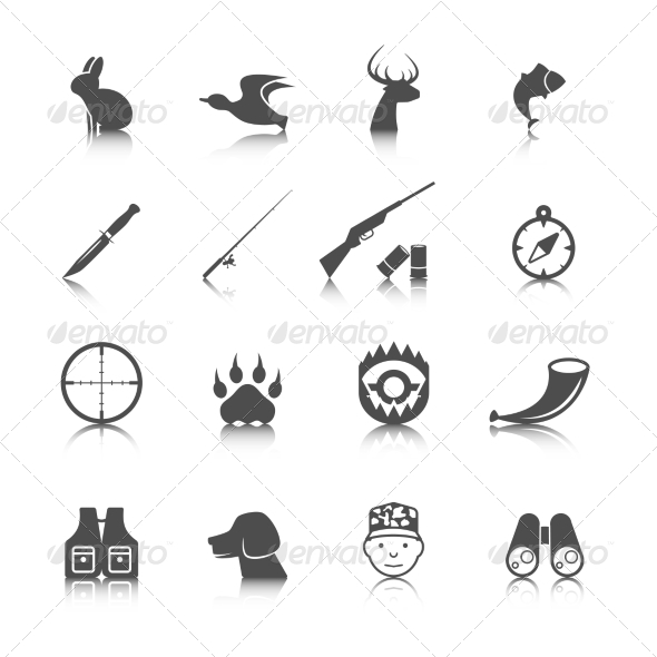 GraphicRiver Set of Hunting Icons 8254435
