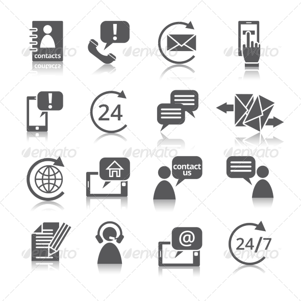 GraphicRiver Contact Us Service Icons 8254468