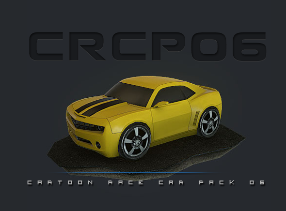 CRCP06 - Cartoon Race Car Pack 06 - 3DOcean Item for Sale