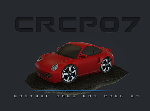 3DOcean CRCP07 Cartoon Race Car Pack 07 8254987