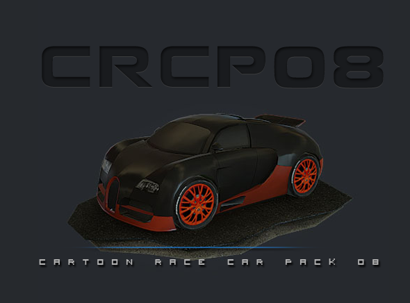 3DOcean CRCP08 Cartoon Race Car Pack 08 8255032