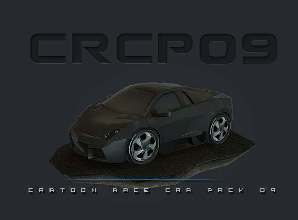 CRCP09 - Cartoon Race Car Pack 09 - 3DOcean Item for Sale