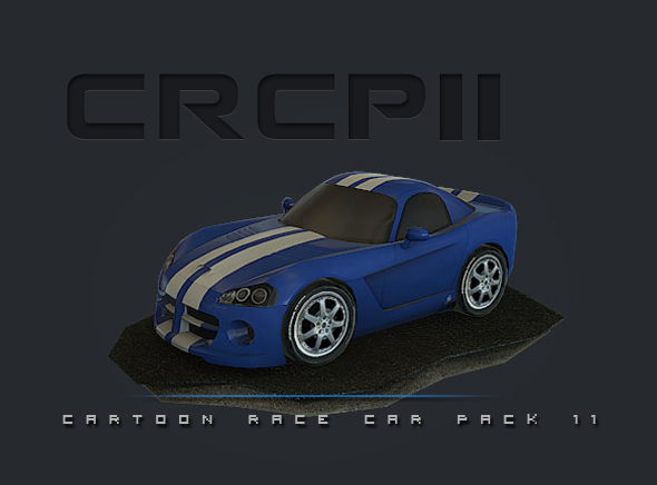 CRCP11 - Cartoon Race Car Pack 11 - 3DOcean Item for Sale