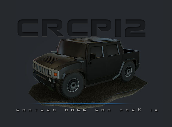 CRCP12 - Cartoon Race Car Pack 12 - 3DOcean Item for Sale